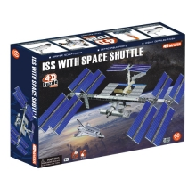 puzzle 3D ISS with space shuttle 4d master