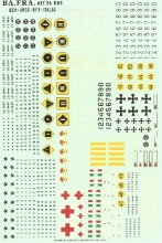 Decals carriarmati 1:35 INSEGNE ITALIANE ED ALTRI STATI BAD06 rip