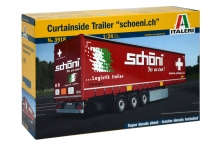 "Semirimorchio CURTAINSIDE TRAILER ""Schoeni.ch"""" Italeri 3918 1:24"