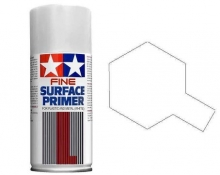 4x spray primer Fine Tamiya 180ml bianco Tamiya 87044