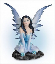 Color Fairies Collection di Les Alpes fatina blu alta cm 13,5 021 12003