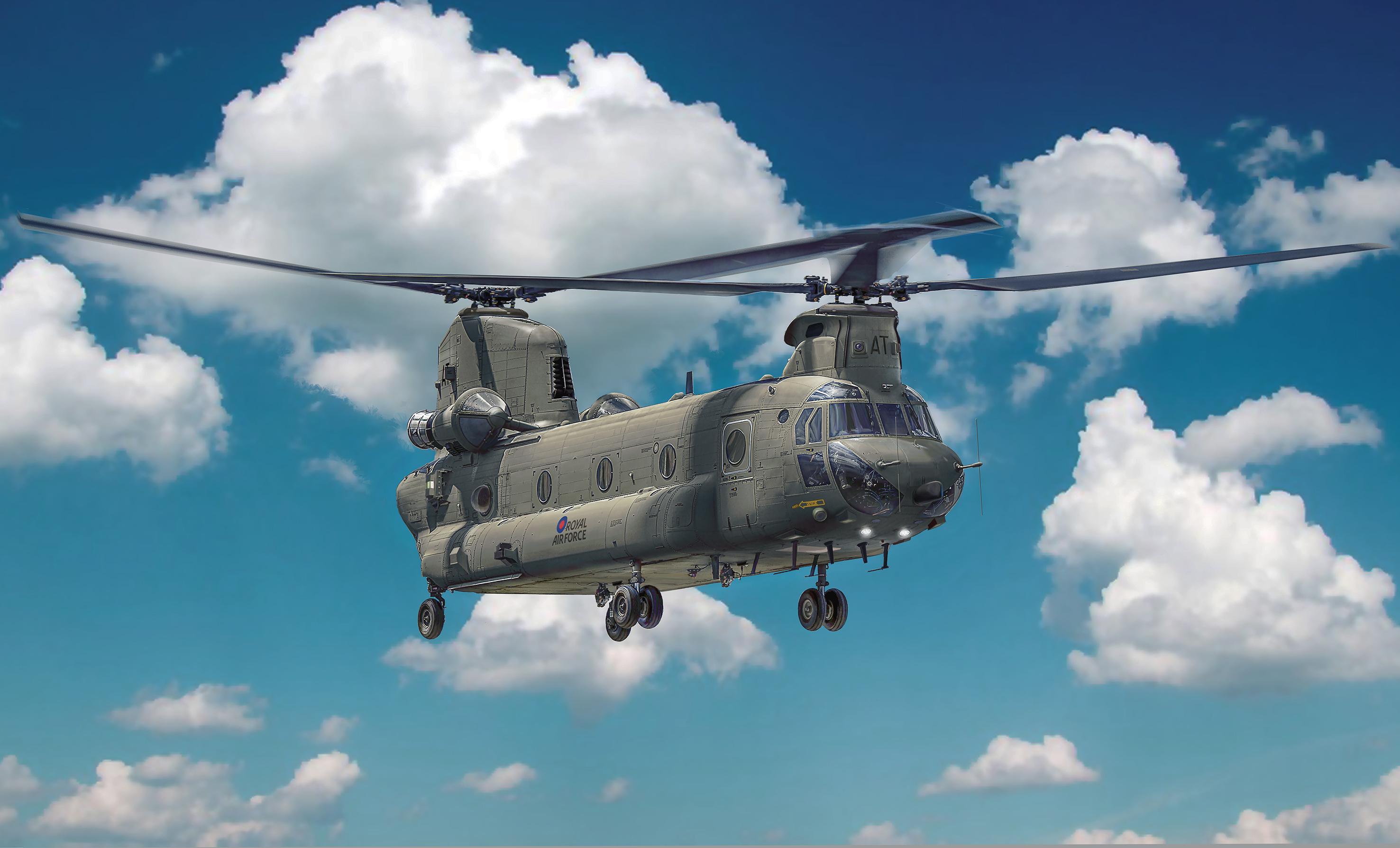 Elicottero Ch : Italeri elicottero scala chinook hc ch f