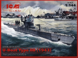 U-Boat Type IIB (1943), German Submarine ICM S.010 scala 1:350