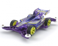 Mini4WD Pro Keen Hawk Jr. Clear Purple Special MA Chassis 95399