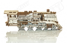 Wooden express with rails scale 1:40 - WOODEN.CITY WR321