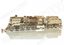 Wooden express & tender with rails scale 1:40 - WOODEN.CITY WR323