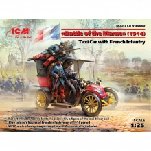 Battle of the Marne (1914), Taxi car with French Infantry 1:35