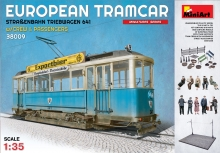 Tram European Tram W Crew And Accessories Kit Miniart 1:35 MIN38009