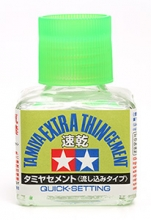 Tamiya 87182 Extra Thin Cement (Quick-Setting) 40 ml