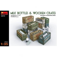 35573 MiniArt Milk Bottles e wooden crates 1:35
