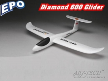 art-tech diamond 600 micro aliante da lancio a mano