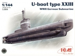 U-Boat Type XXIII, WWII German Submarine ICM S.004 scala 1:350